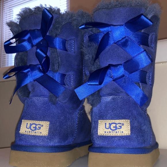 97193dd820a Royal Blue Bailey Bow Uggs